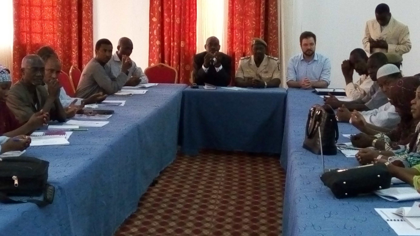 The coordinator of the project Gousmane Moussa standing.