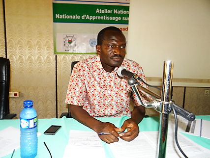 Dr Augustin Kabore during his workshop moderation