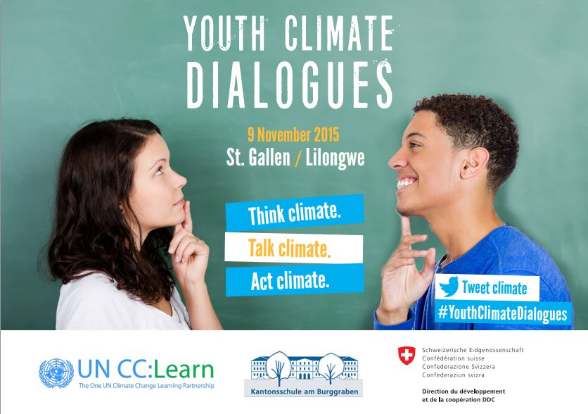 The launch event of the Youth Climate Dialogue initiative takes place in St. Gallen on 09th November.