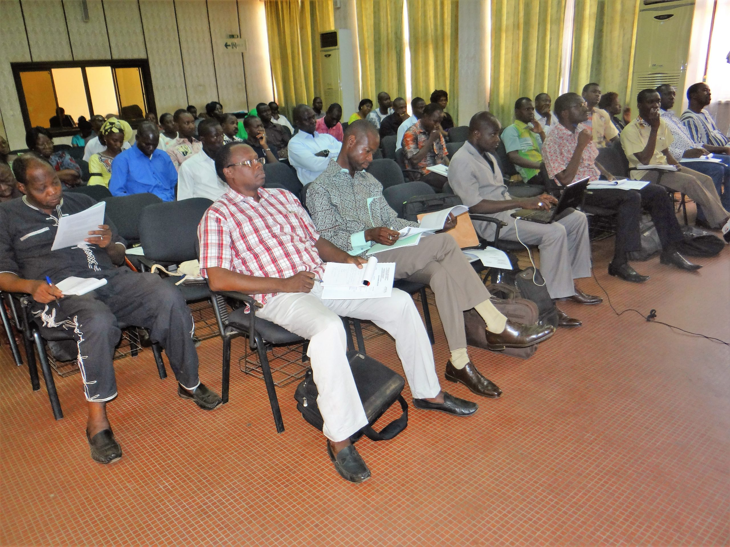 A view of the participants during the workshop proceedings