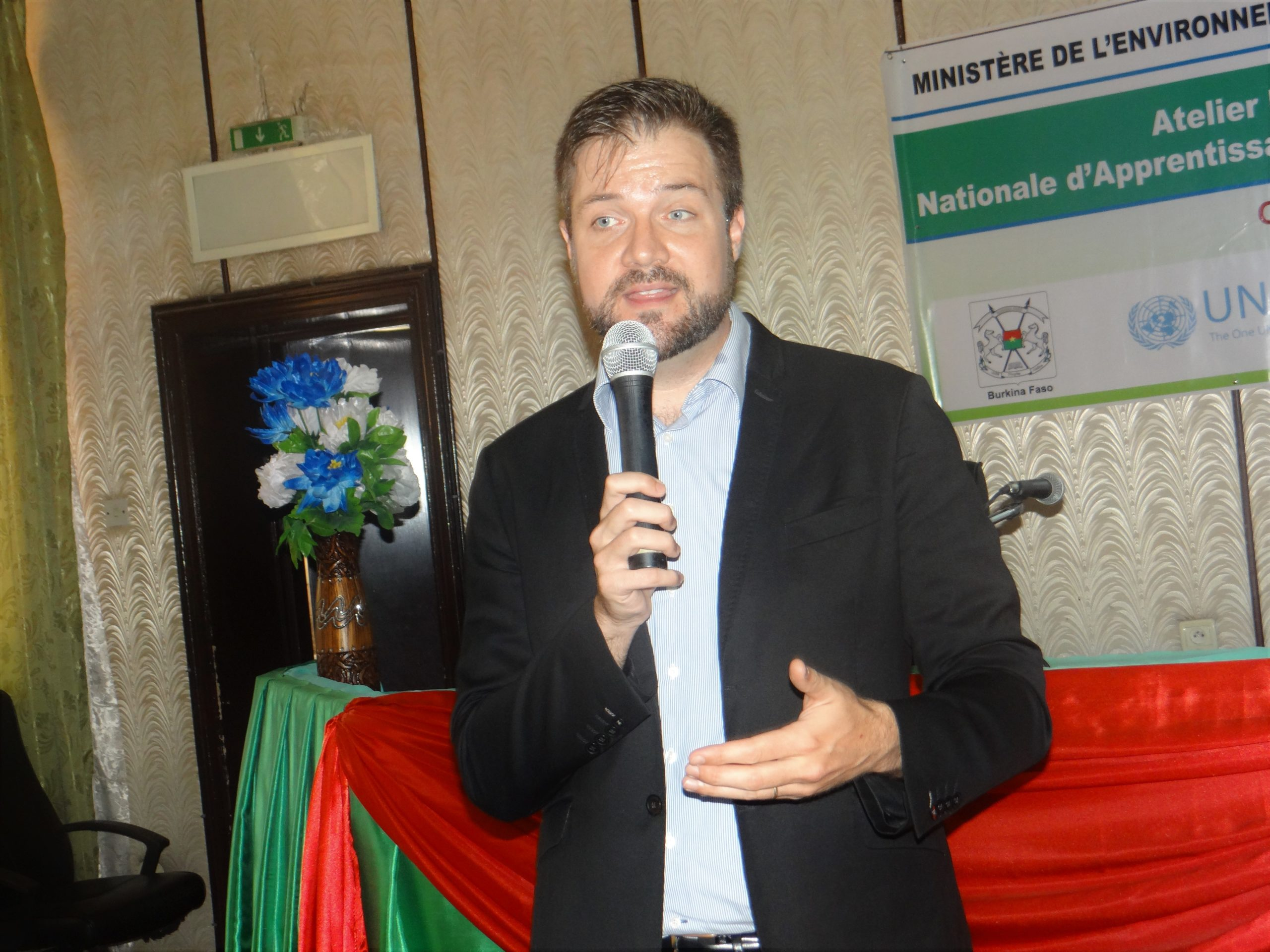 The Secretariat UN CC:Learn, Mr. Vincens Cote during his exchanges with the participants