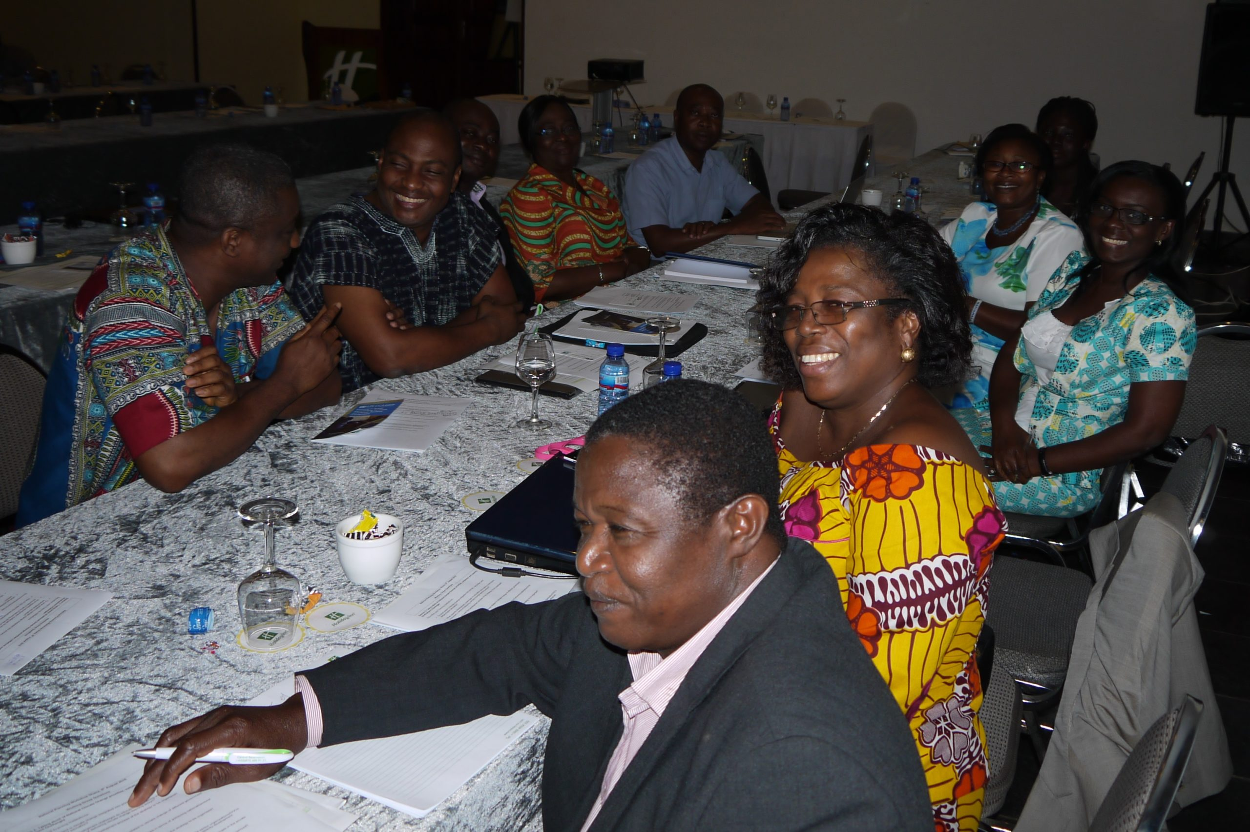 Representatives of education and training institutions in Ghana, discussing existing capacities but also challenges in delivering of climate change learning.