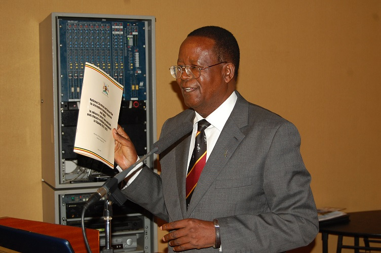 H.E. Prof. Ephraim Kamuntu, Minister of Water and Environment of Uganda officially launched the Strategy.