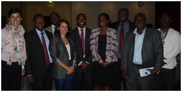 The UN CC:Learn team, including representatives from EPA, MESTI, UNDP, the UN CC:Learn Secretariat and Uganda.