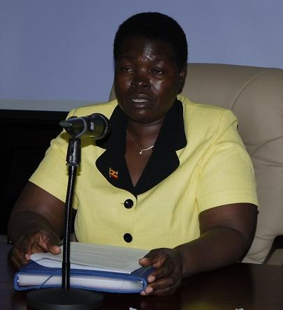 Ms. Nabugere Munaaba Flavia, the Hon. Minister of State of Environment of Uganda