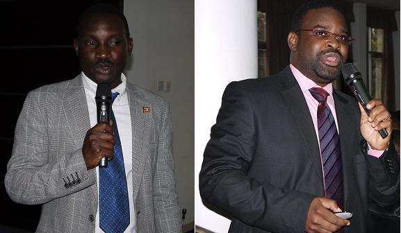 Mr. Bob Natifu, Senior Climate Change Officer - Outreach, Climate Change Unit (left) and Dr. Robert Wamala, School of Statistics and Applied Economics (right)