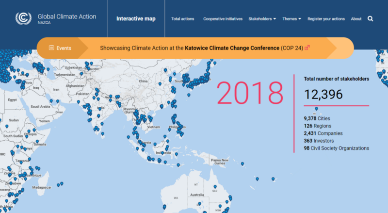 The UN Climate Change has launched a Global Climate Action portal where companies, cities, subnational regions, investors and civil society organizations can display their commitments to act on climate change. Access it here.