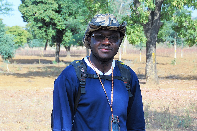 Mr. Germain Goungounga in the field. /©Germain Goungounga