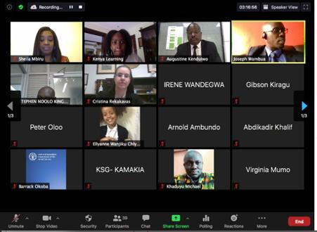 Online Workshop in Kenya